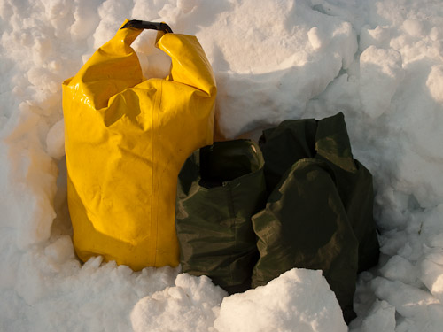 Food Storage in the snow - Ice Raven - Sub Zero Adventure - Copyright Gary Waidson, All rights reserved.