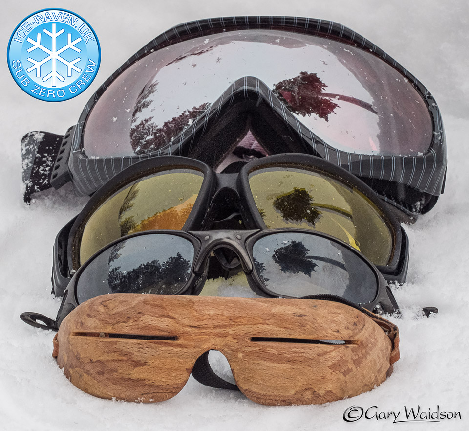 Snow Goggles - Ice Raven - Sub Zero Adventure - Copyright Gary Waidson, All rights reserved.