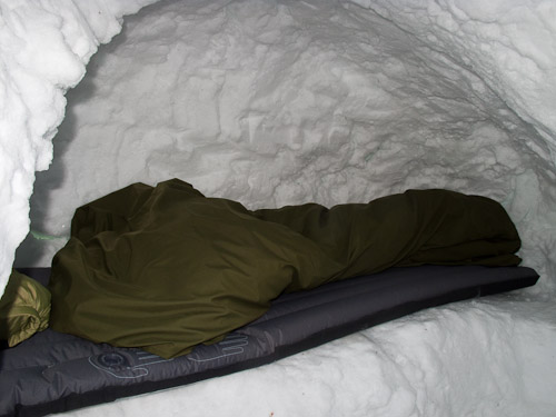 Inside Snow Hole - Ice Raven - Sub Zero Adventure - Copyright Gary Waidson, All rights reserved.
