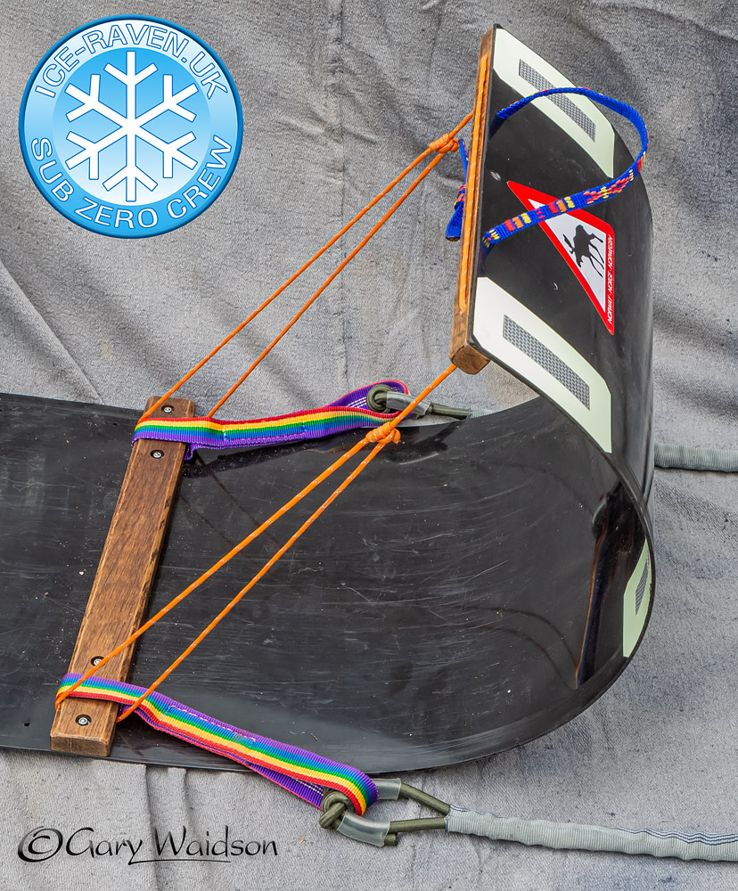 The toboggan haul bar - Ice Raven - Sub Zero Adventure - Copyright Gary Waidson, All rights reserved.