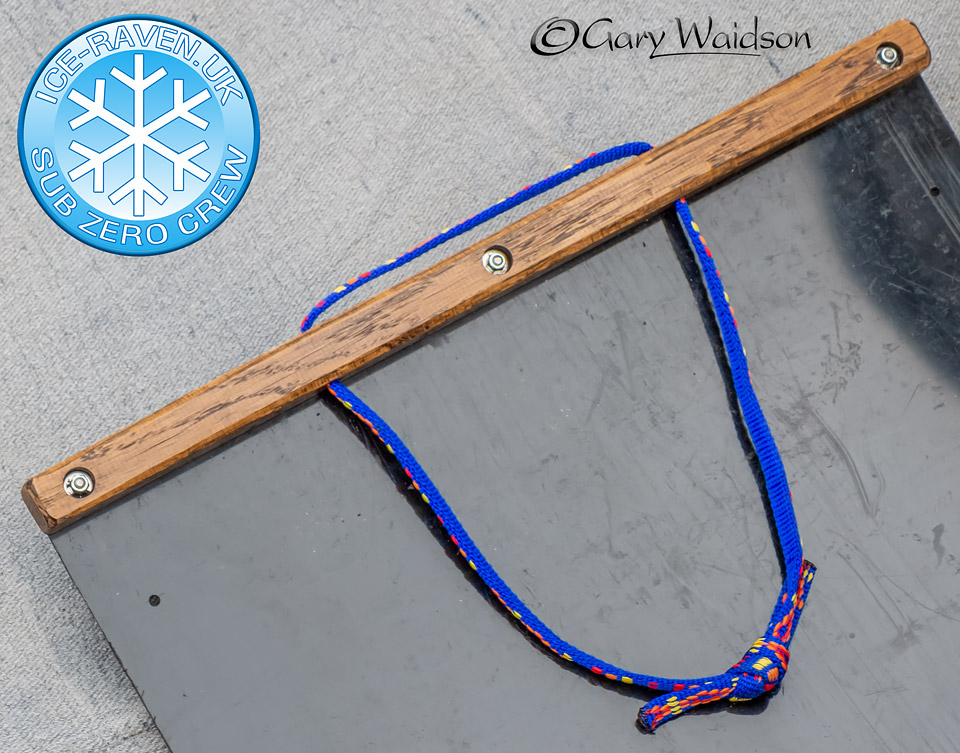 Toboggan grab handle - Ice Raven - Sub Zero Adventure - Copyright Gary Waidson, All rights reserved.